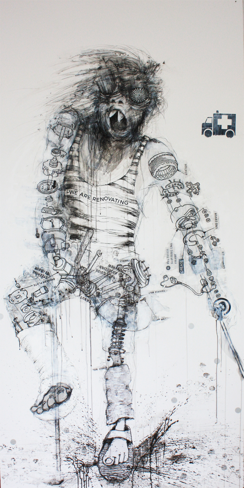 Renovating / 120x240 cm