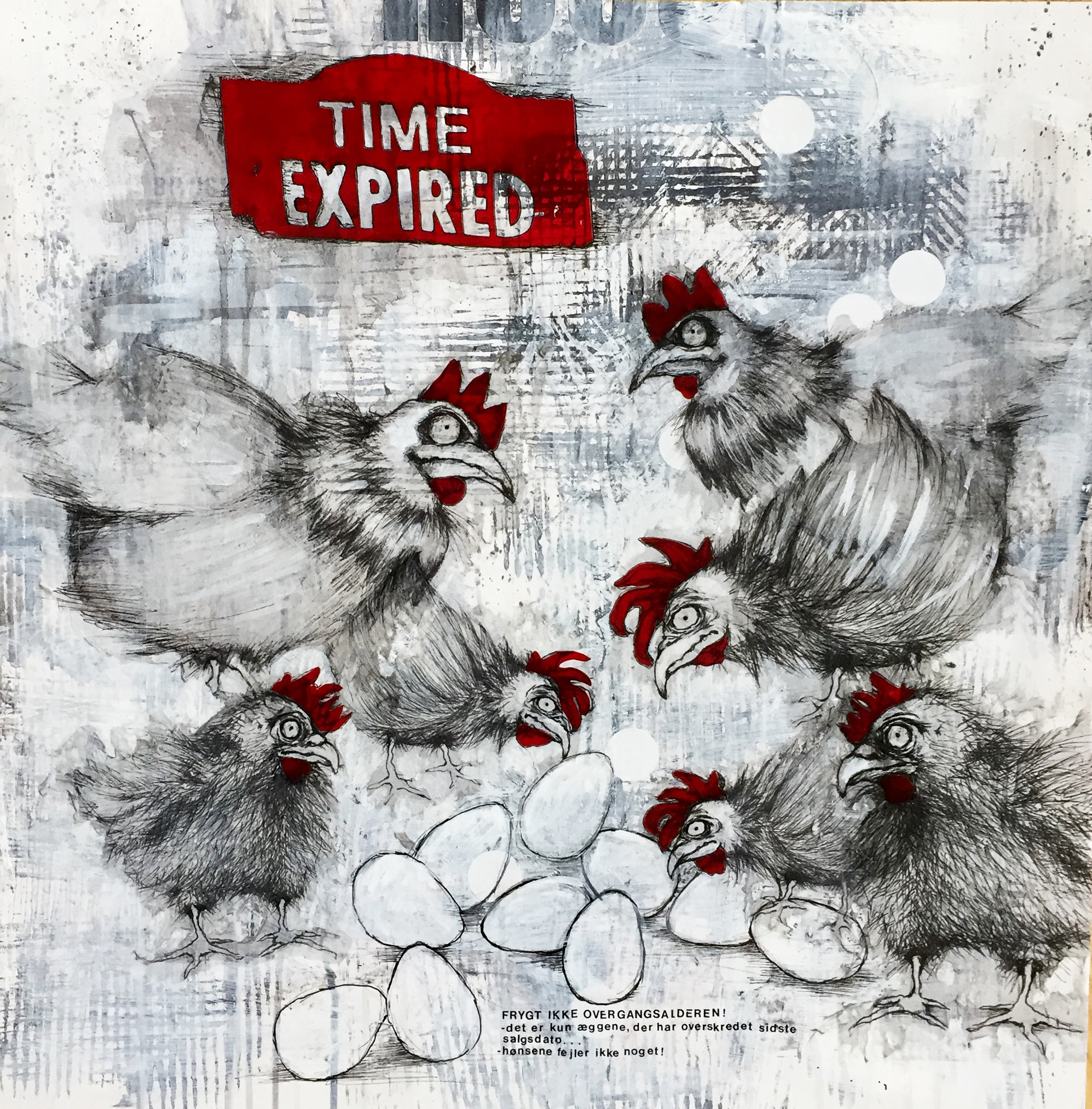 Time expired / 60x60 cm
