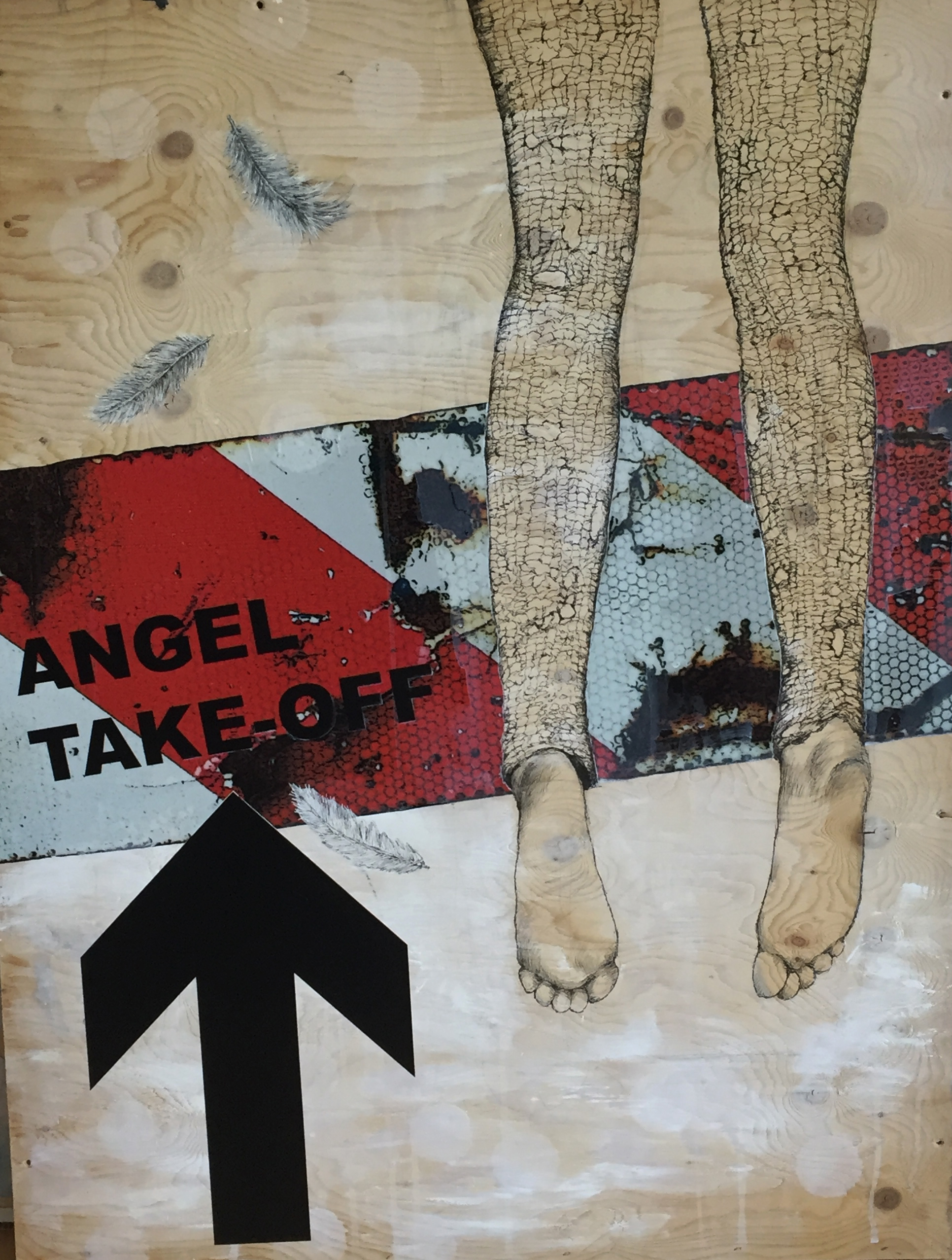 Angel take-off / 80x110 cm