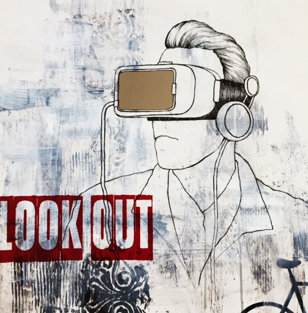 Look out / 60x60 cm