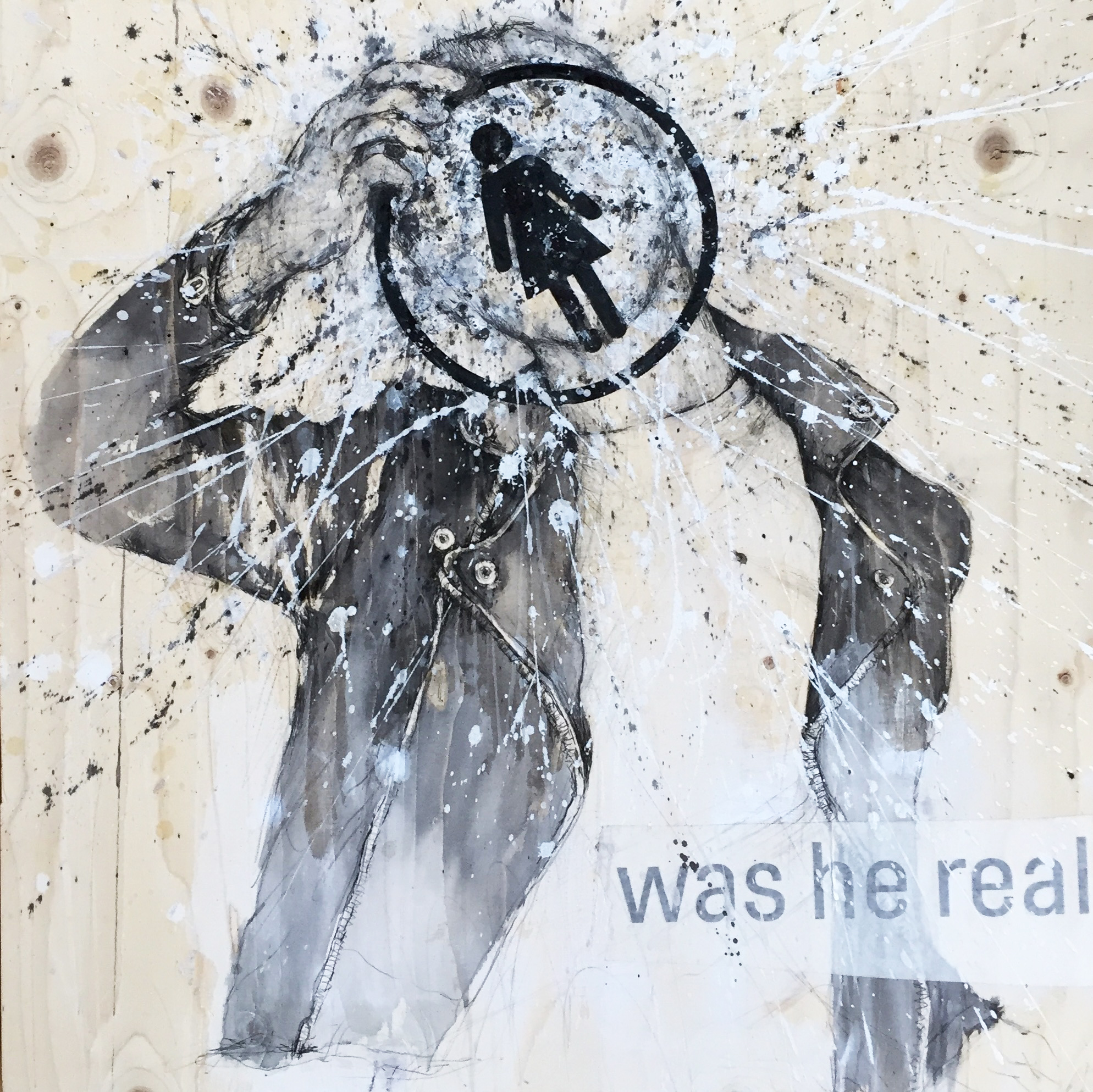 Was he real / 60x60 cm